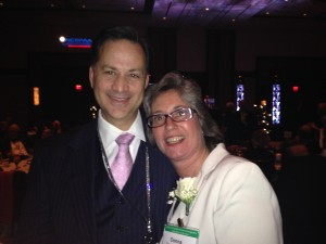 Peter Quinter, Miami-based attorney and yours truly at the Gala Dinner.
